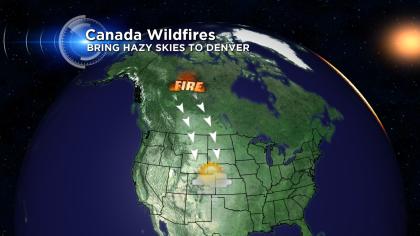 Canada fires hazy skies